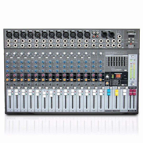 Mesa de som com 16 canais Arcano AMIX-16