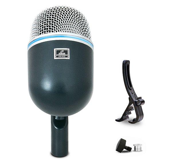 Microfone dinâmico para bumbo Arcano AM-B52 com clamp