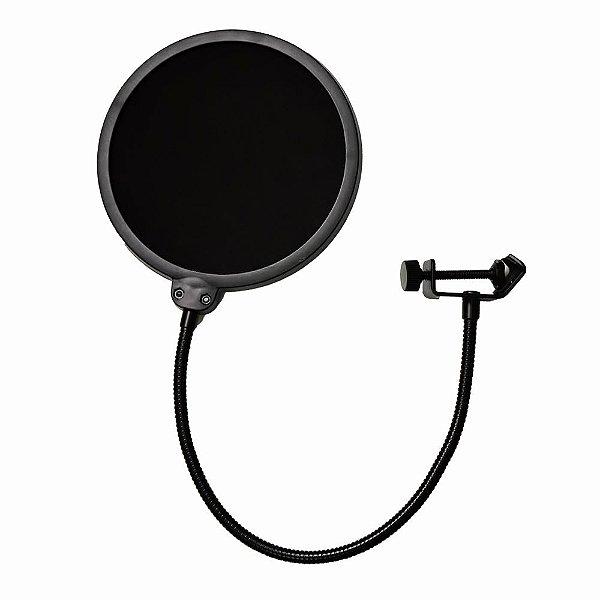 Prendedor de microfone pop filter Arcano AM-POP tela nylon