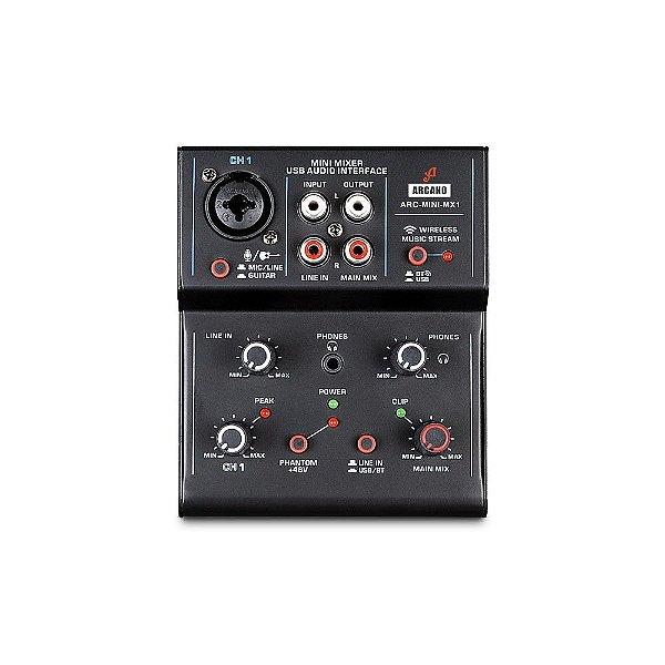 Mesa de som e interface USB Arcano ARC-MINI-MX1
