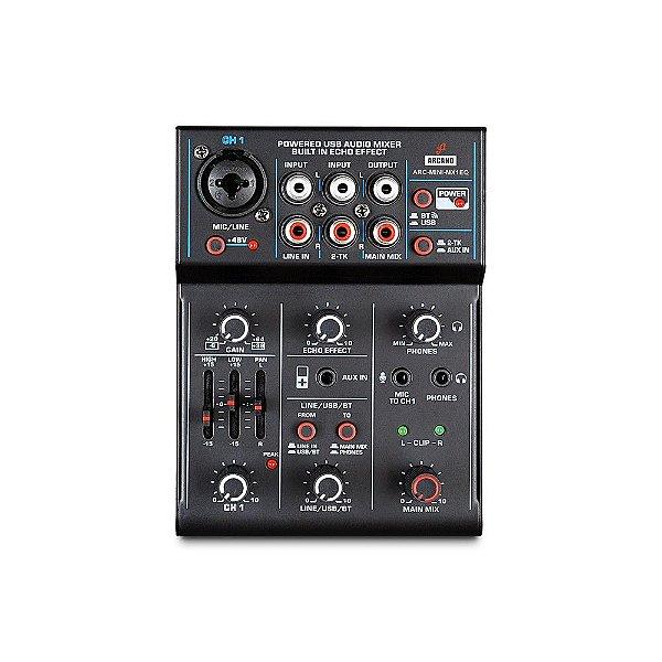 Mesa de som e interface USB Arcano ARC-MINI-MX1EQ