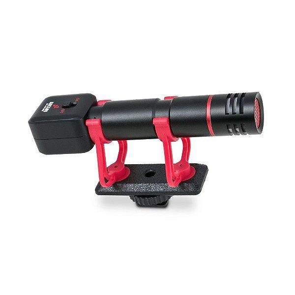 Microfone condensador Arcano ARC-MICWIN p/ câmeras e smartphones