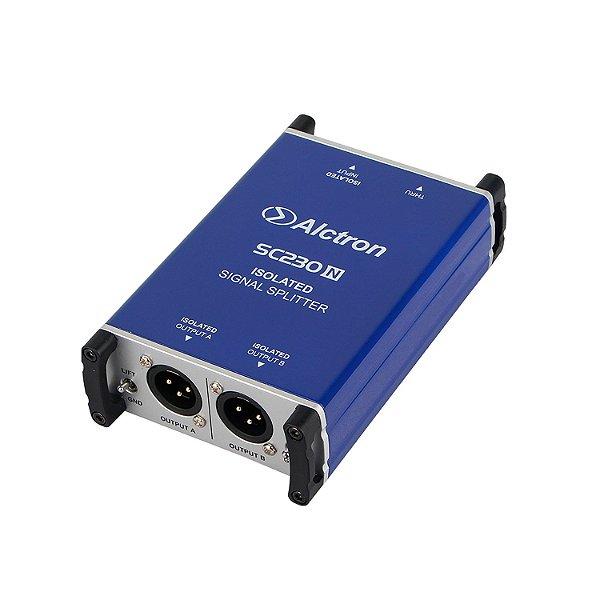 Splitter de áudio passivo 1 canal Alctron SC230N misturador unificador