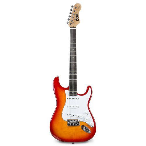 Guitarra elétrica DOD STR-1 tipo strato sunburst 6 cordas