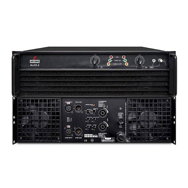 Amplificador de potência Arcano ALAS-2 6400w 2 canais