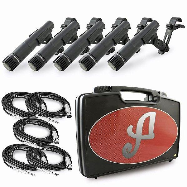 Kit de 5 microfones dinâmicos para bateria Arcano Renius-7D-KIT