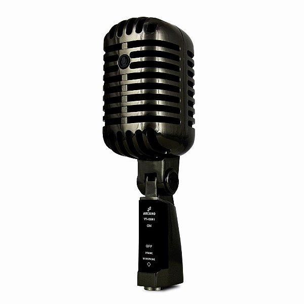 Microfone dinâmico vintage Arcano VT-45 BK