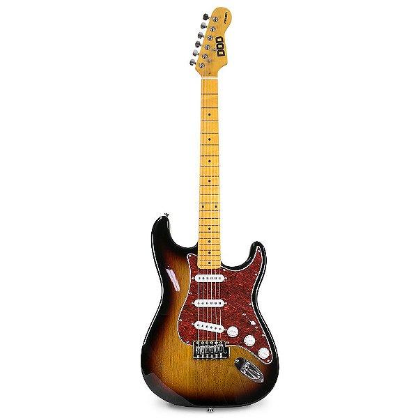 Guitarra elétrica DOD STR Vint-1 tipo strato c/ imperfeições