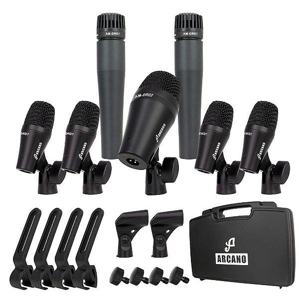 Kit de microfones dinâmicos para bateria Arcano AM-DRD7