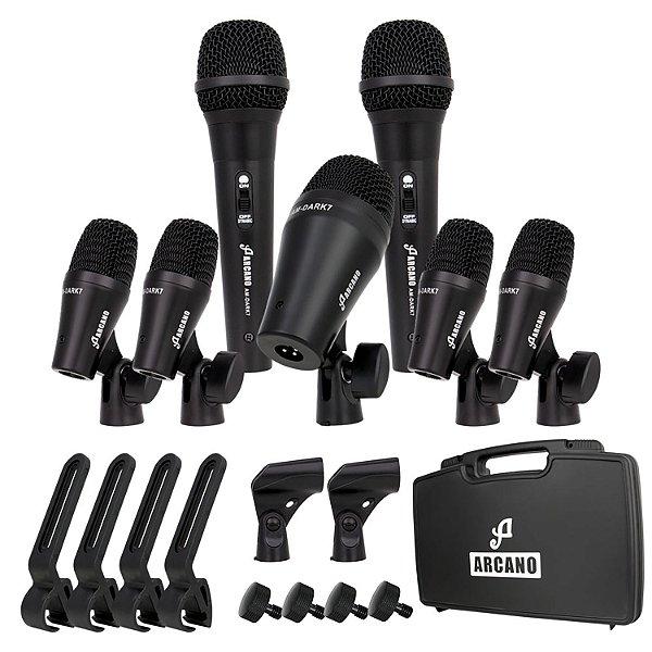 Kit de microfones dinâmicos para bateria Arcano AM-DARK7