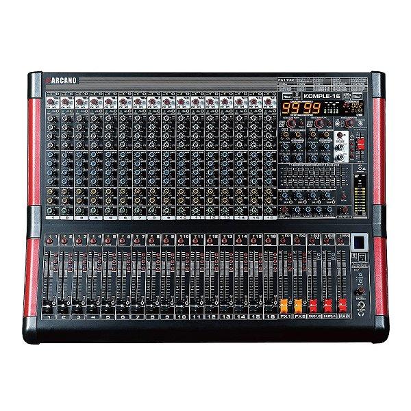 Mesa de som e interface USB Arcano KOMPLE-16