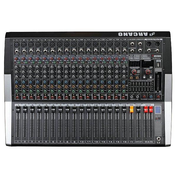 Mesa de som amplificada Arcano Ultra-P16 2000W