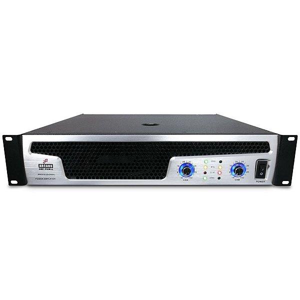 Amplificador de potência Arcano ARC-PAW-6 220V c/ imperfeições