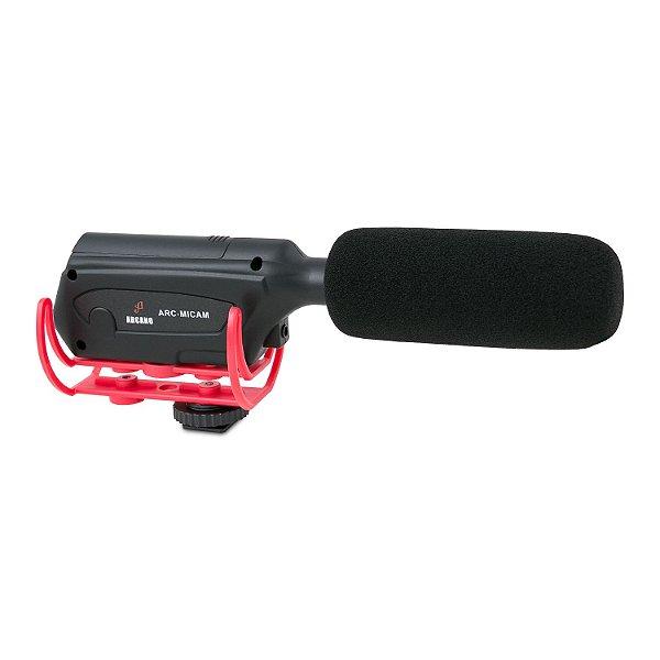 Microfone condensador Arcano ARC-MICAM p/ câmeras de vídeo