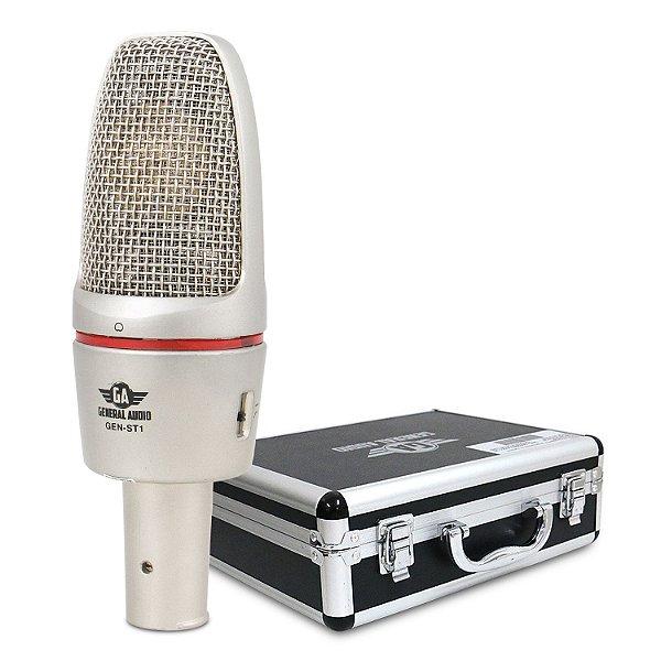 Microfone condensador General Audio GEN-ST1 c/ imperfeições