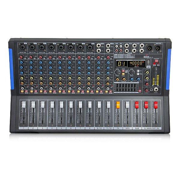 Mesa de som amplificada e interface Arcano CC-12 110v c/ imperfeições