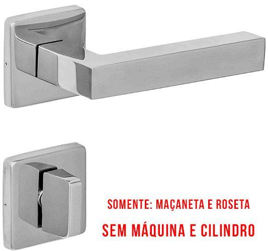 Guarnição Champion Banheiro Roseta Quadrada 09 Inox Polido