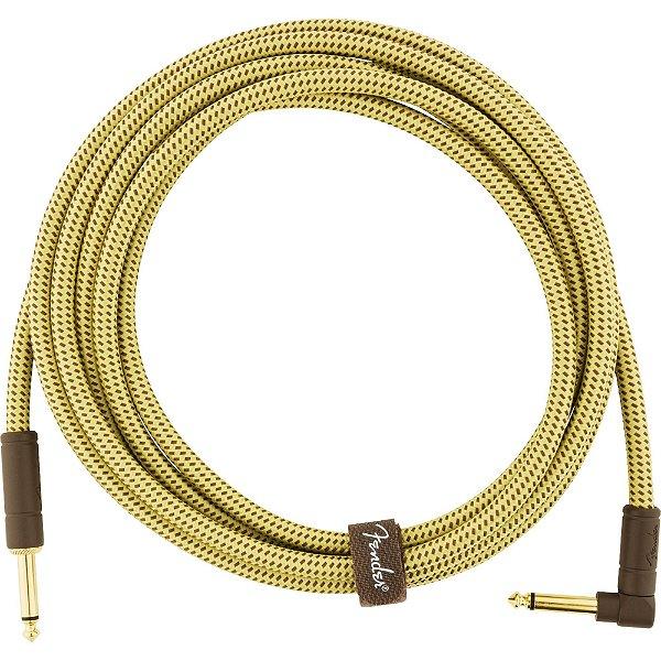 Cabo para Instrumentos P10 x P10 (90°) 3m DELUXE SERIES Amarelo Tweed FENDER