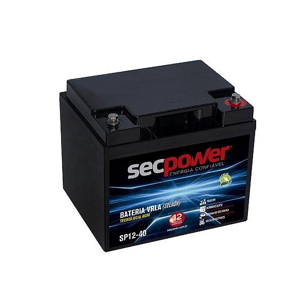 Bateria de Chumbo Ácida VRLA SP12 40 SECPOWER