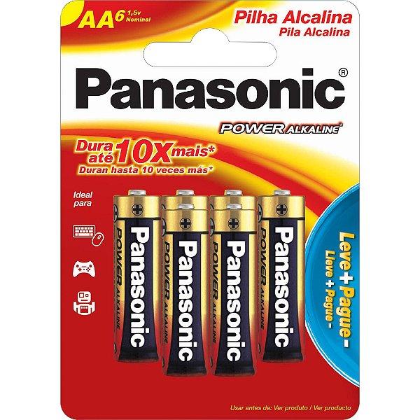 Pilha Alcalina AA 1,5V LR6XAB/L6P5192 PANASONIC (Cartela com 6 Unid.) pilhas) PANASONIC - CAR / 6