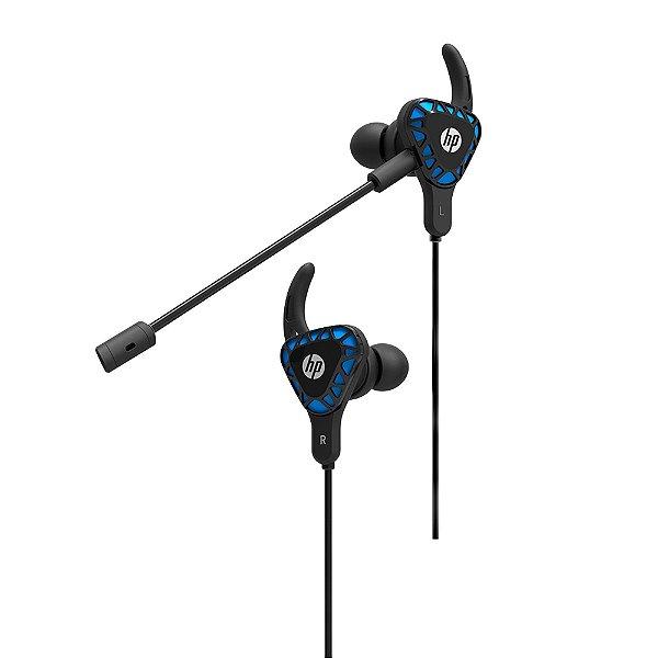 Headset Intra-Auricular P2 H150 Preto/Azul HP