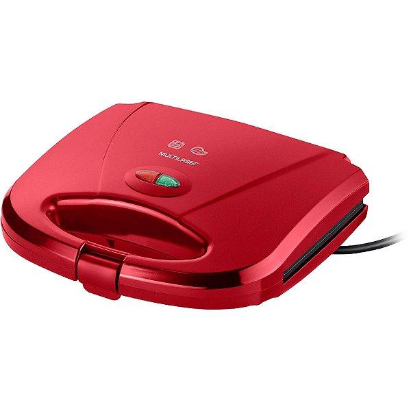Sanduicheira e Mini Grill 750W 127V CE148 Vermelha MULTILASER