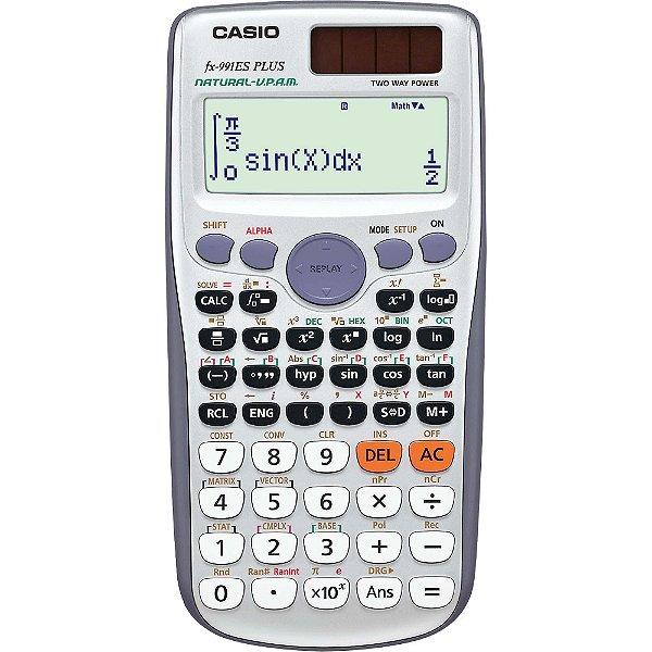 Calculadora Científica 417 Funções FX-991ES PLUS Cinza CASIO