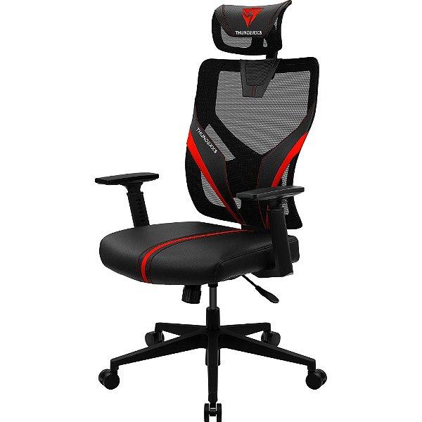 Cadeira Ergonomica Yama1 Preta/Vermelha THUNDERX3