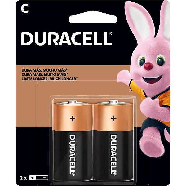 Pilha Alcalina C MN-1400 (Caixa c/16 pilhas) (Cartela c/2 pilhas) DURACELL - CXF / 16