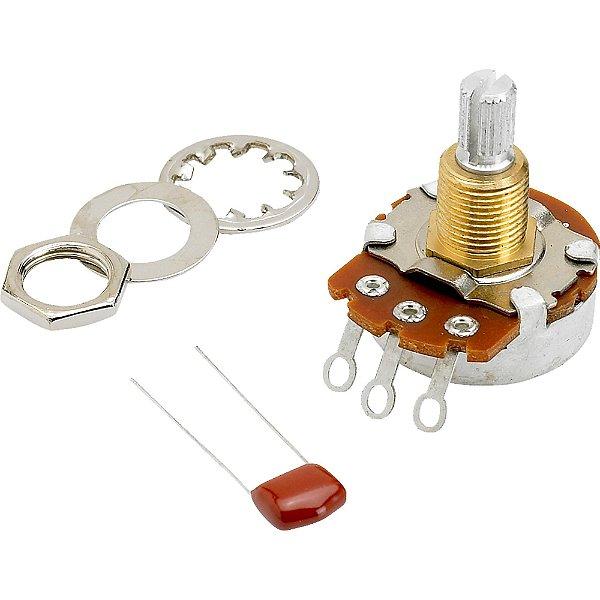 Potenciômetro T/V 500K Eixo Dividido SPLIT Branco FENDER