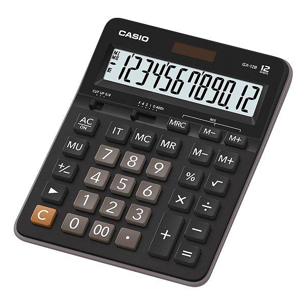 Calculadora de Mesa 12 Dígitos GX-12B Preta CASIO