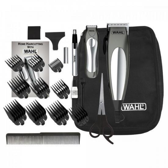 Kit Maquina e Aparador 220V Deluxe Groom Pro Prata WAHL