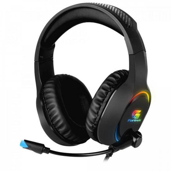 Headset Gamer RGB Holt Preto FORTREK