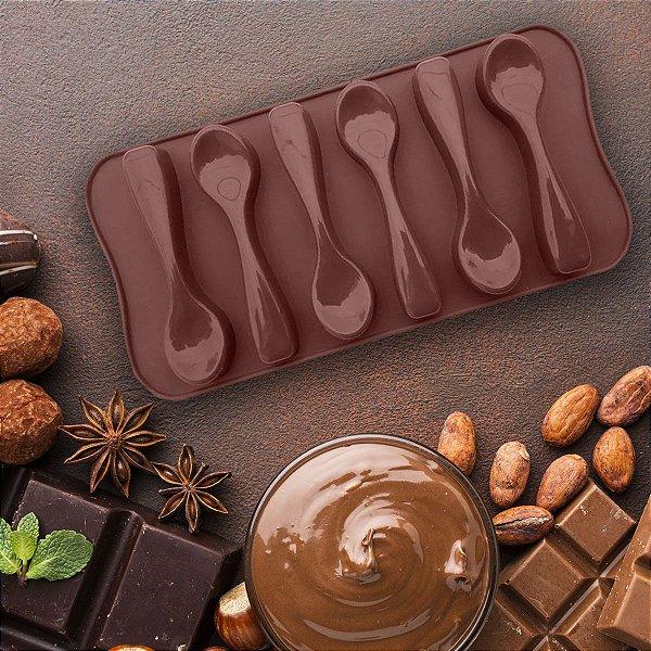 Forma De Silicone Formato De Colher Para Chocolates E Doces