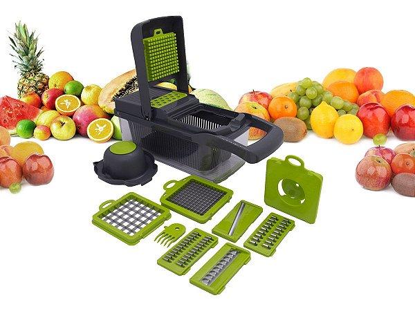 Cortador Multi Fatiador Nicer Alimentos e Frutas 8 em 1