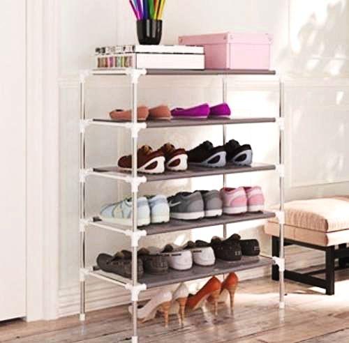 Sapateira 5 Prateleiras Até 15 Pares Sapatos Estante