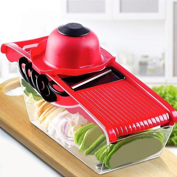 Kit 10 un Mandoline Slicer Nicer Cortador De Legumes 6 Em1