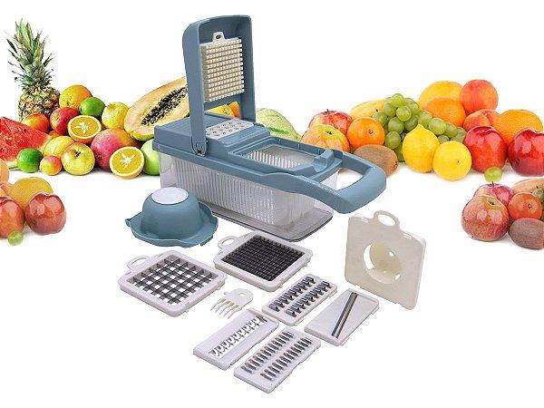 Cortador Multi Fatiador Nicer Para Alimentos E Frutas 8 em 1