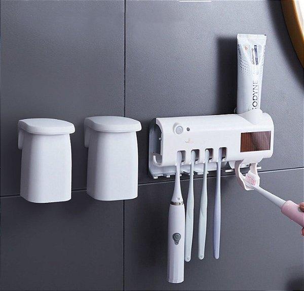 Kit Porta Escovas de Dentes + 2 Copo Enxaguante Bucal