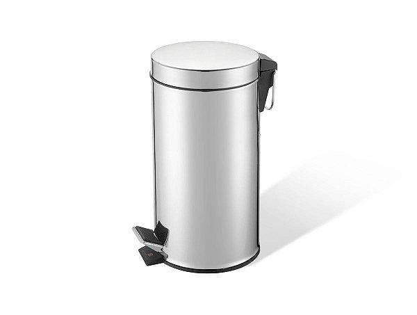 Kit 45 Lixeiras Aço Inox 12 litros