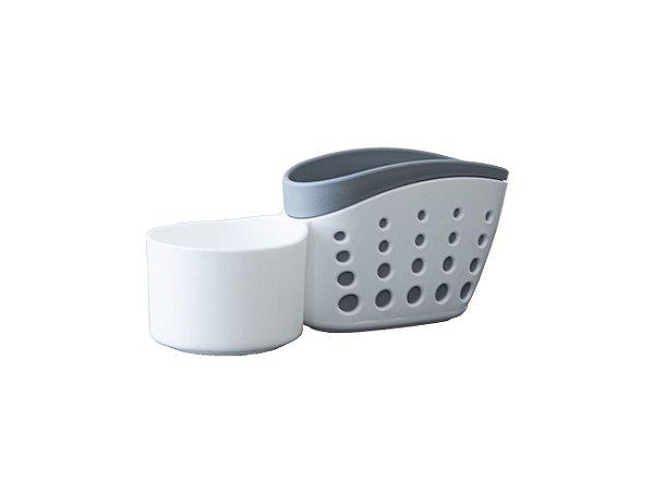 Suporte Detergente e Esponja para Pia Sabão Bucha