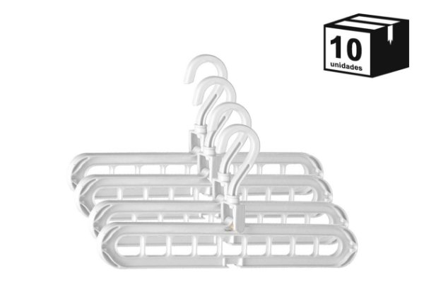 10 Unidades Suporte Organizador Para Cabides Versátil