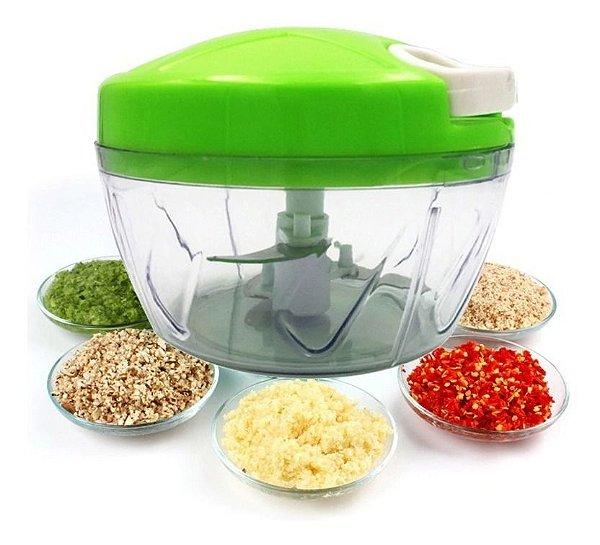 Kit 5 Triturador Picador Legumes e Frutas Alimentos Manual