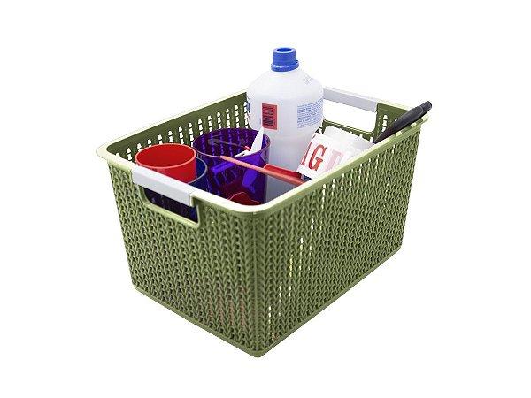 Kit 3 Cestos Organizadores De Plástico 12l 22x31