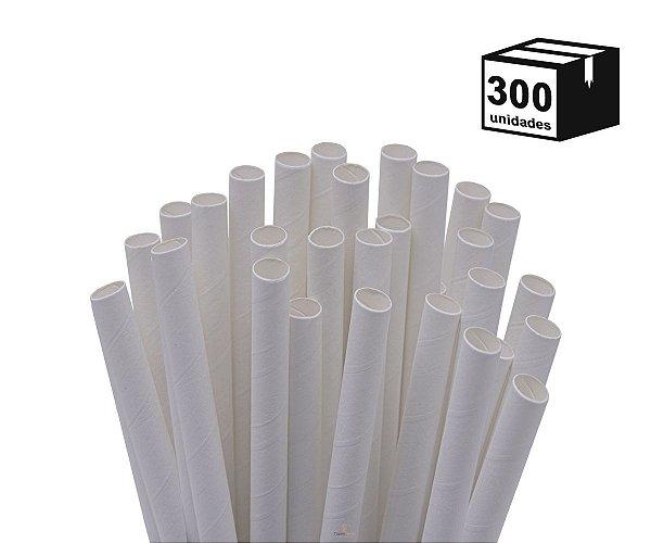 300 Unidades Canudos de Papel Biodegradável 6mm
