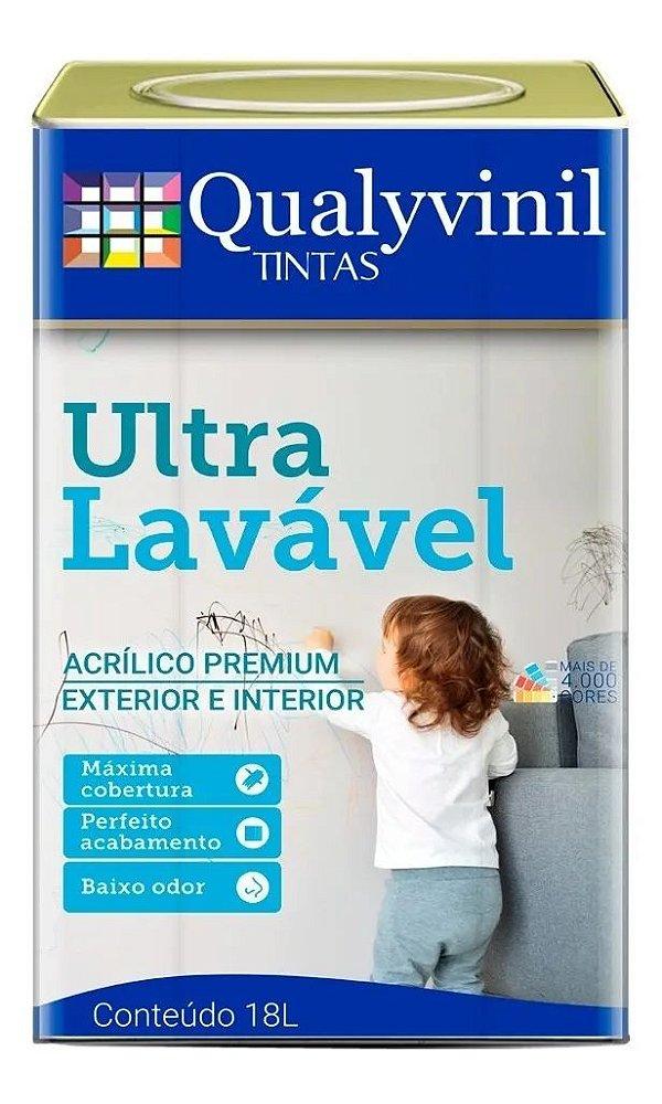 Qualyvivinil Fosco Ultra Lavável Branco Gelo 18 LT