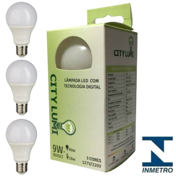 Lampada Led  Com Tecnologia Digital City Lumi 9W