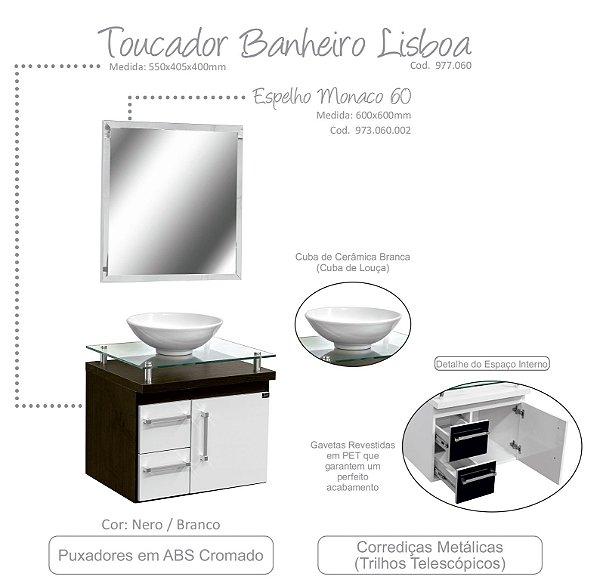 TOUCADOR DE BANHEIRO LISBOA- LOCATT