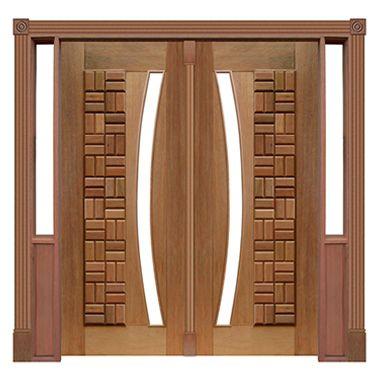 Portal Pivotante - 075 - Clássica para Vidro em Arco