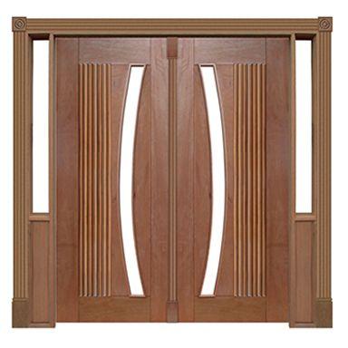 Portal Pivotante - 155 - Barcelona para Vidro em Arco
